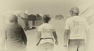 Camp de Zaatari situé à la frontière Syrienne en Jordanie