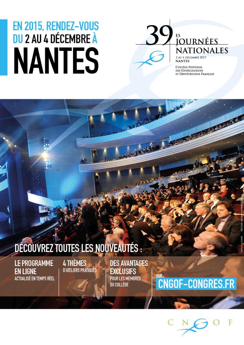 GSF participe aux Journées du CNGOF à Nantes du 2 au 4 décembre 2015