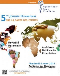 5ème Journée Humanitaire sur la Santé des Femmes dans le monde – 11 mars 2016