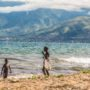 Enfants au botrd du Lac Tanganica